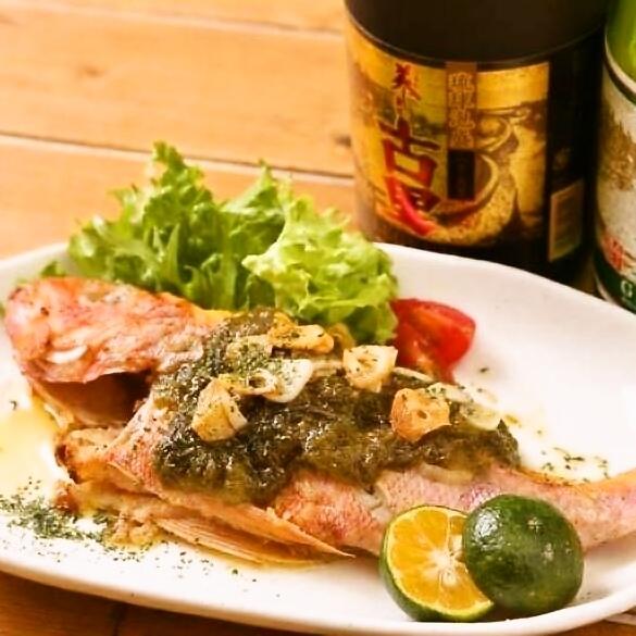 沖縄鮮魚のバター焼き