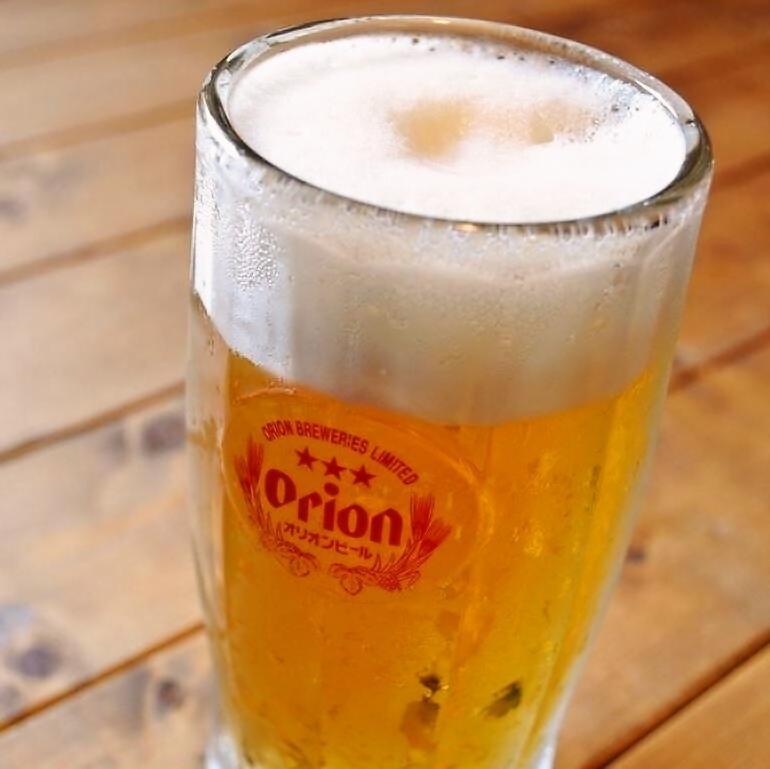 美味しいオリオン生ビール