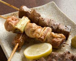 烤年輕雞肉串(2)
