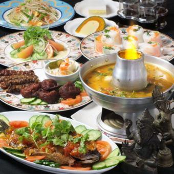 ◇◆カンボジア料理が堪能できる【カンボジアコース】8品¥3500(税抜)◆◇