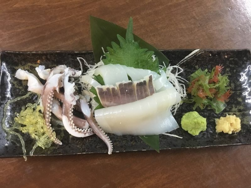Direct from Hachinohe! Variety rich squid dishes