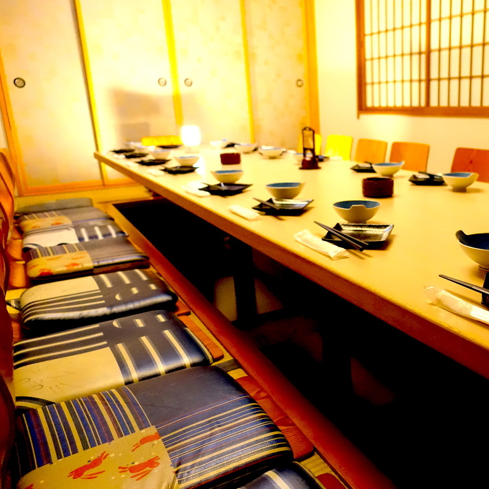 各種宴会に人気の掘りごたつ個室。