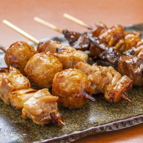 烤雞肉串5種