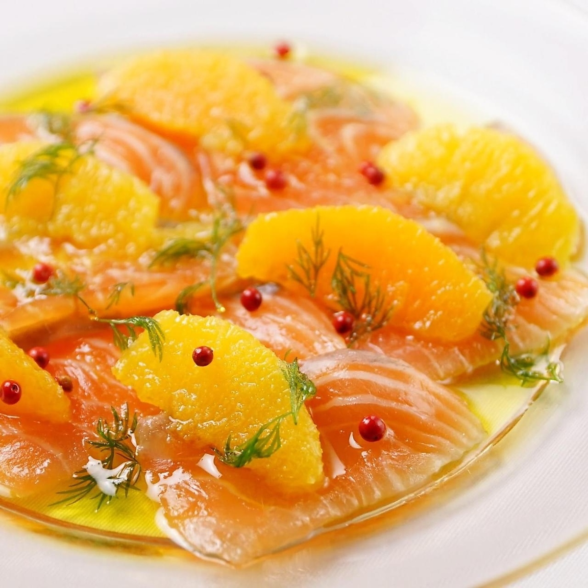 Marinade of Norwegian salmon