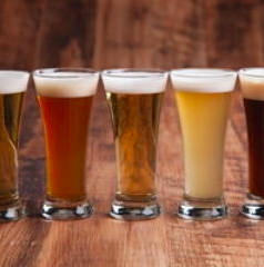 Four types of seasonal craft beer are always available
