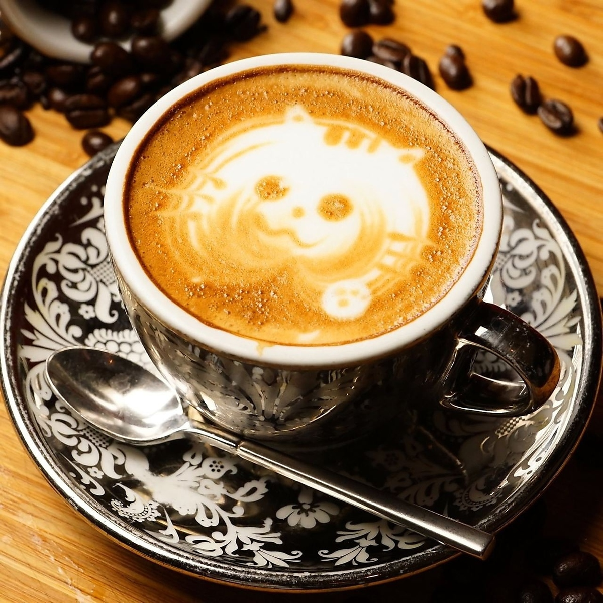バリスタ特製のカフェラテ