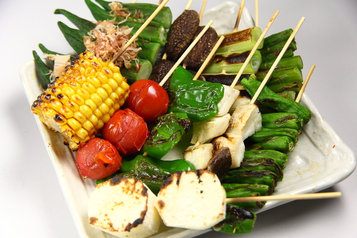 Green Pepper / Shishito / Grilled Asparagus / Grilled Baked / Baked Okra / Corn for One