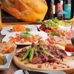 [3小时内所有可以喝,并用烤牛肉]和(含税)3800日元日元⇒2,800[厨师当然] <菜肴8个菜>