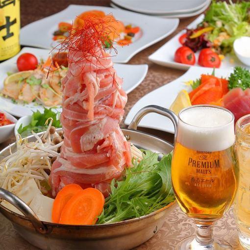 """""""季节性""""锅所有你可以吃当然2小时1980日元"""