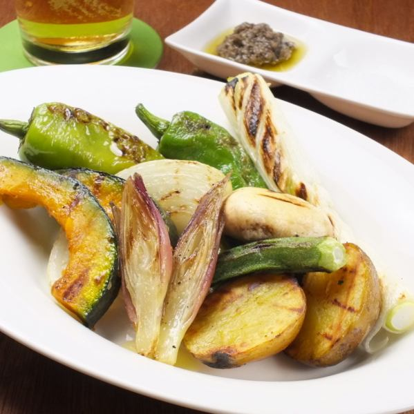 Assorted of today char-grilled vegetables