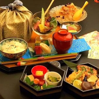 【Lunch Kaiseki】 13th Anniversary Kaiseki A Lunch All 6 items ⇒ 2300 yen