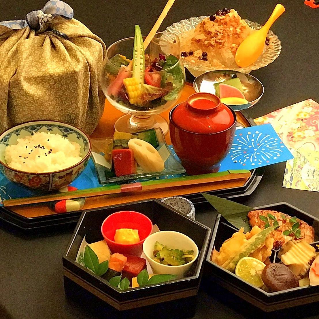 13th Anniversary Kaiseki A Lunch All 6 items ⇒ 2300 yen