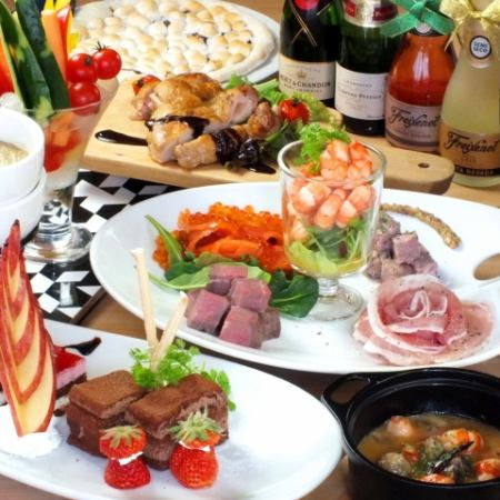 【Okin Sparkling can also be drunk ♪】 All-you-can-drink for 2 hours! Chocolate course 8 items 4000 yen → 3500 yen (tax included)