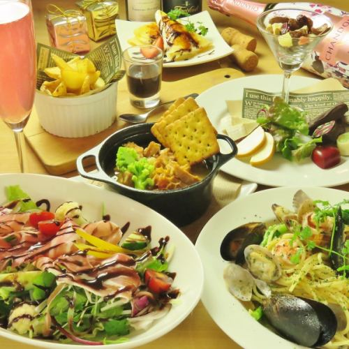 【20: 30 ~】 Second course at chocola! 90 minutes with all you can drink 8 items 2800 yen ⇒ 2500 yen (tax included)