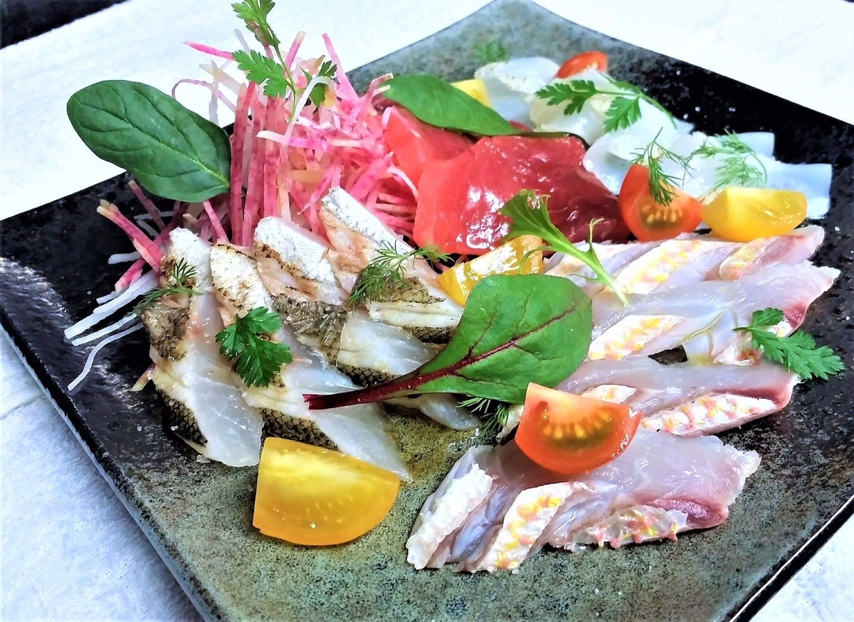 Fresh produce direct fresh fish carpaccio