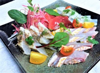 Freshwater direct fresh fish carpaccio