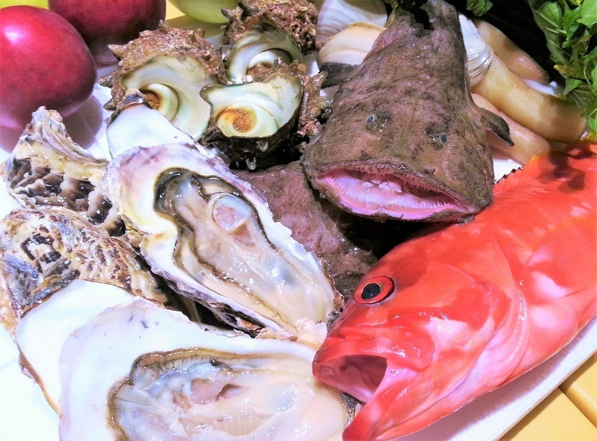 本日の産地直送鮮魚料理
