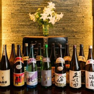 All you can drink 2,160 yen at +1,620 yen, a lot of local sake · authentic shochu · plum wine