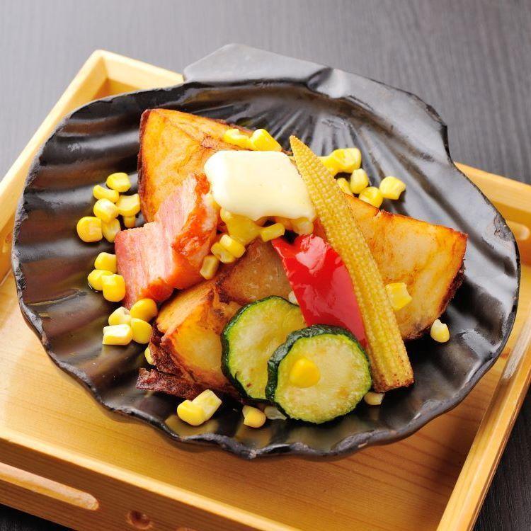 Hakuhoku baron and thick cut bacon iron plate grill