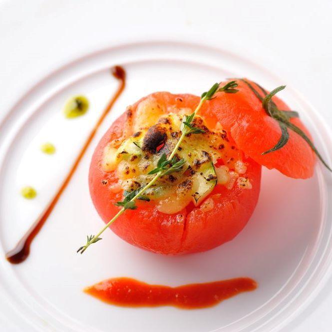 Gratin of tomato kettle