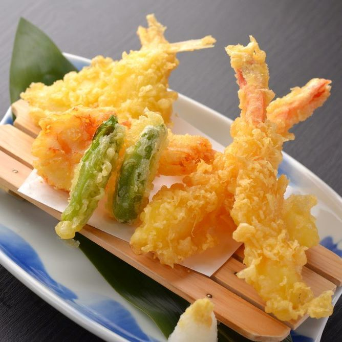 Seafood tempura combination
