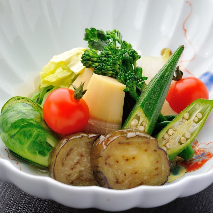 Seasonal vegetable cooked together