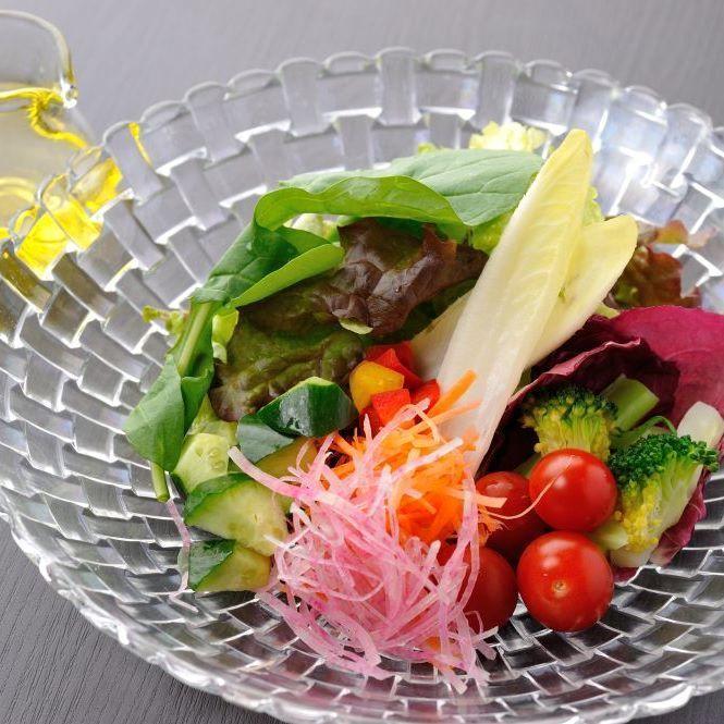 Various vegetables plentiful salad EX olive vinaigrette