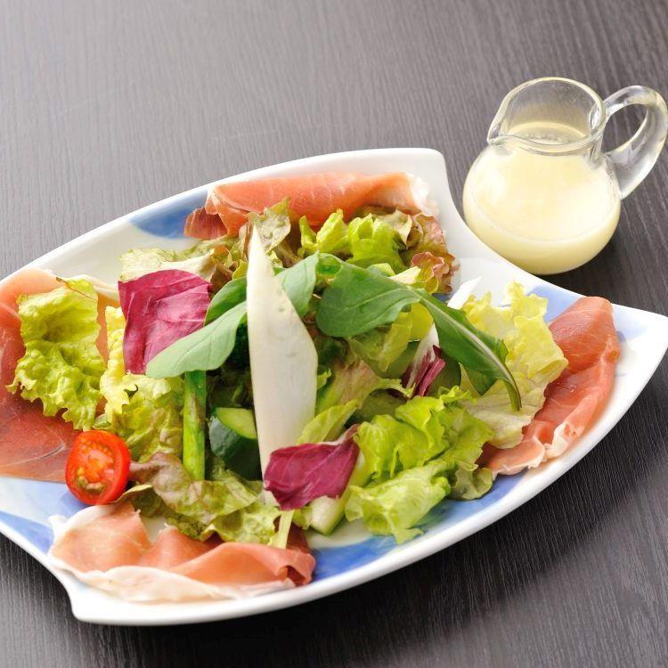 Raw ham salad French dressing