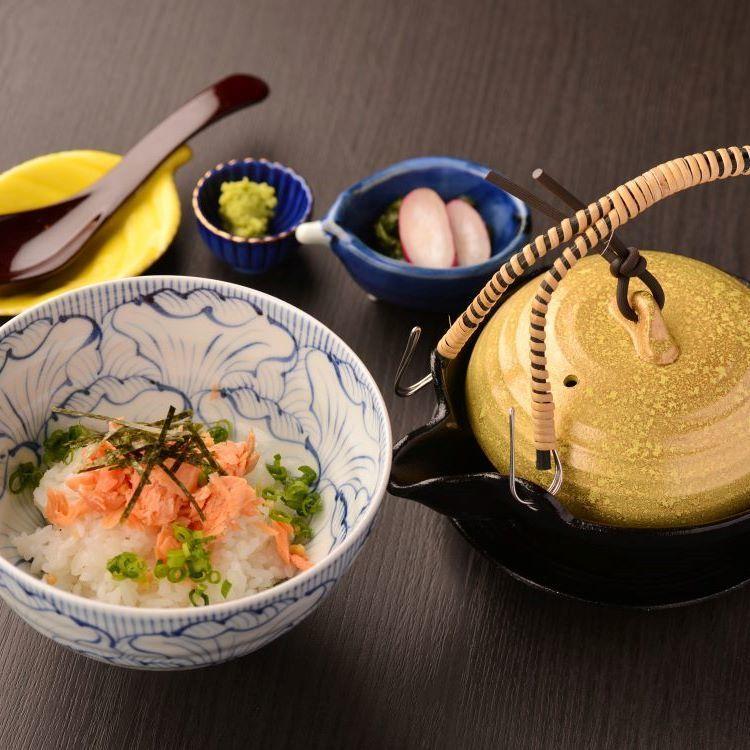 Ochazuke (salmon · plum · nori)