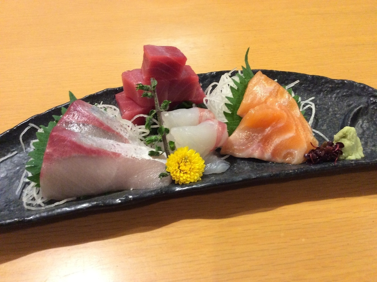 Assorted sashimi (4 squares) (for 1 to 2 servings)