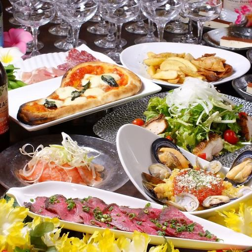 2 hours with all-you-can-drink all-you-can-eat 【weekday (Sun - Thu) limited girls course】 3500 yen (excluding tax) ♪