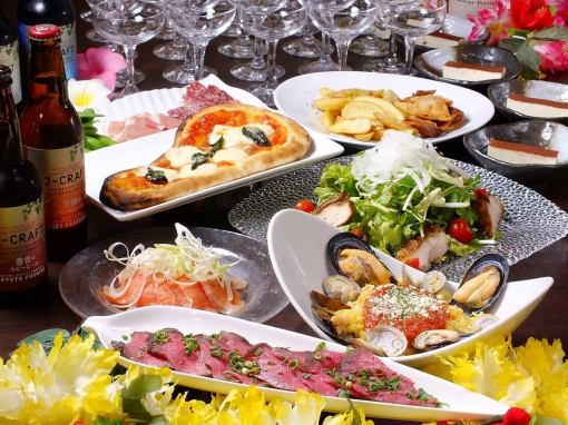 2 hours All-you-can-eat cuisine all 6 items 【weekday (Sun - Thu) limited girls course】 3500 yen (tax excluded) ♪