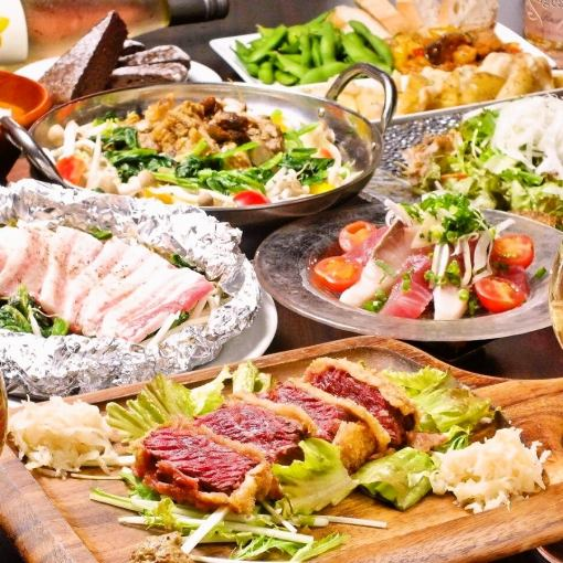 2 hours with all-you-can-drink all-you-can-eat 【pot choice pot and cattle cuts】 5500 yen → 5000 yen by coupon use ♪