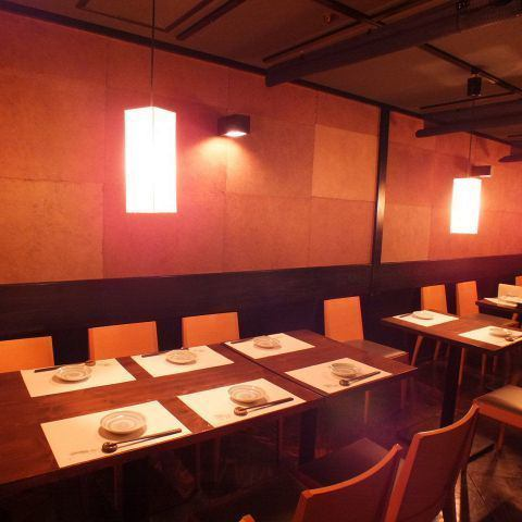 【Table seat with a calm atmosphere】 It is possible to use it in various scenes such as girls 'party, mother' s party, ginkgo from various banquets / welcome party / farewell party.There are table seats in semi-private rooms, so you can use it for lunch meetings.Layout change is possible according to the number of people, please feel free to contact us.