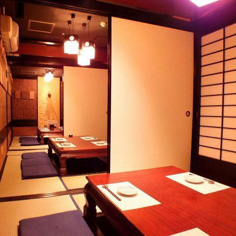 【Digging up to 18 people】 Private private room space from 6 people up to 18 people.You can relax and eat delicious food and local delicacies in a relaxing atmosphere as an adult's hideout.Please reserve a private room for 35 persons, reserved for floor charters and store loaning, please feel free to contact us.