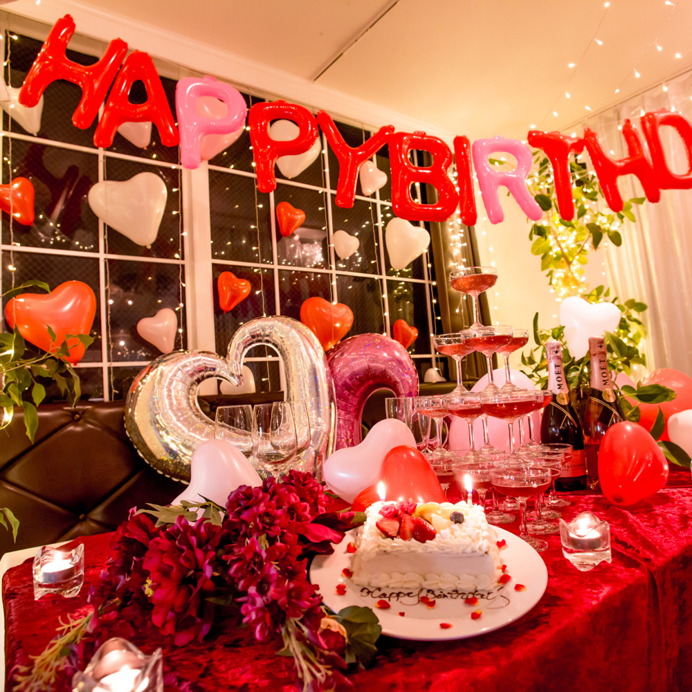 A birthday surprise in a private room!