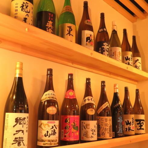 Sake and ground distilled spirit is abundant, too.Please enjoy delicious oden and delicious sake.