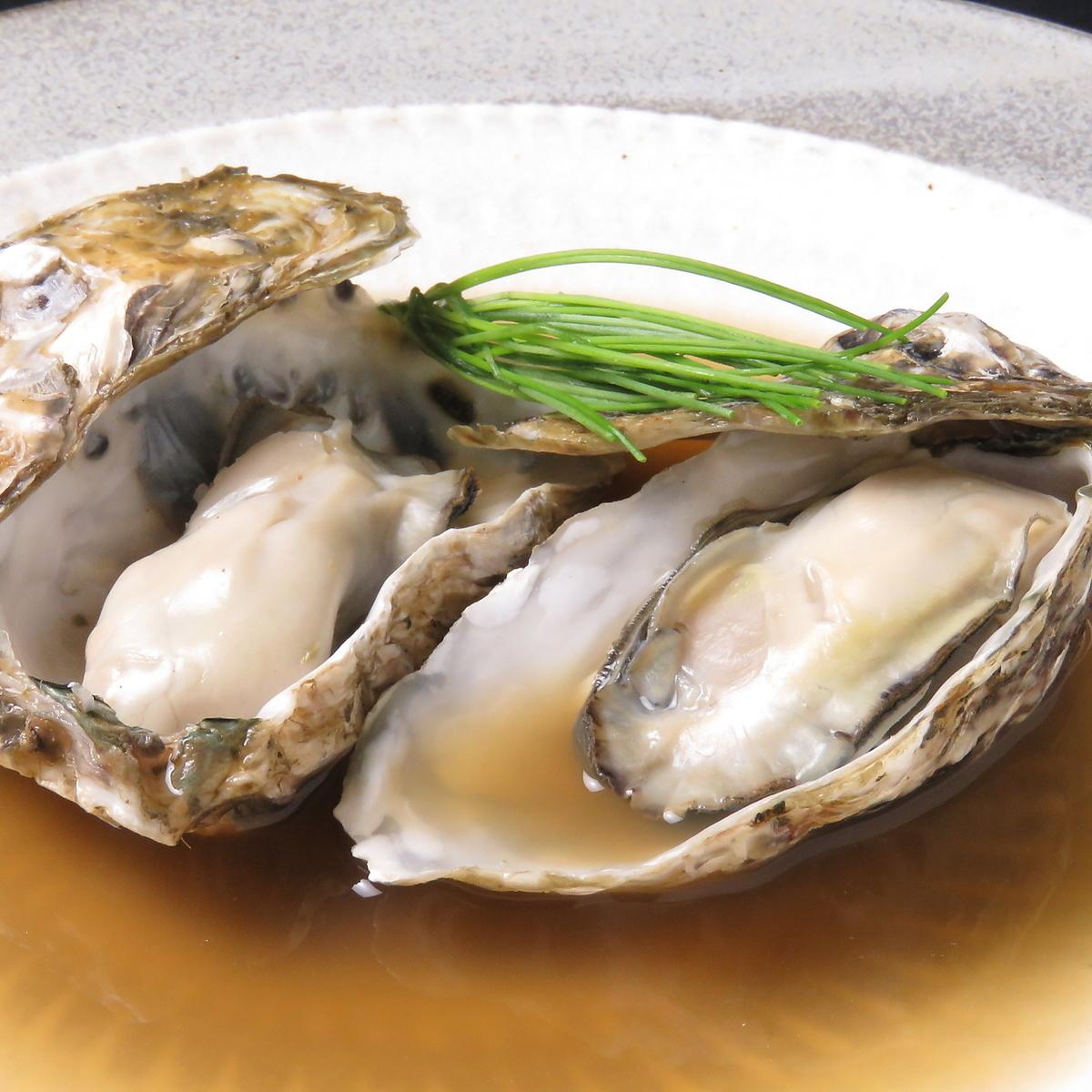 贝壳牡蛎的关东煮
