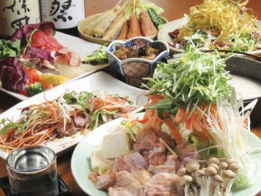 好的一天![龜自製蔬菜豆奶鍋] 2小時所有你可以喝8項4500日元課程(包括在內)