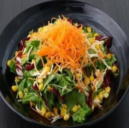 蒸し鶏の焙煎胡麻サラダ