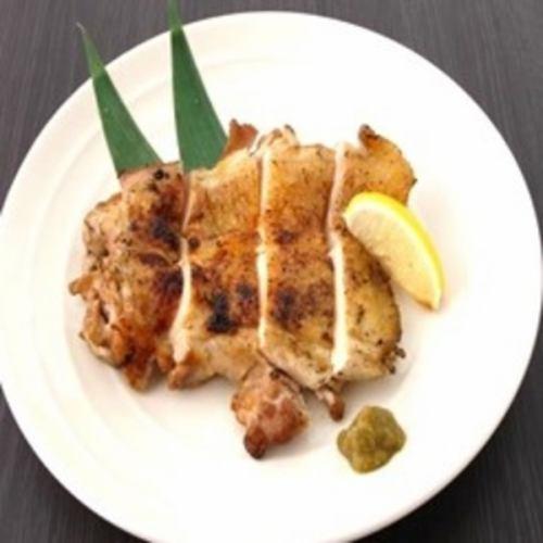 鶏もも肉のオーブン焼き~柚子胡椒添え~