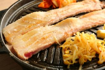 Samgyeopsal 120 minutes all you can eat! 120 minutes with all you can drink 4000 yen ⇒ 3500 yen