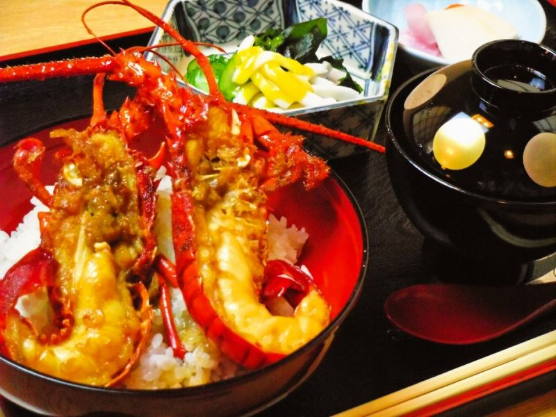 Set meal with Ise shrimp