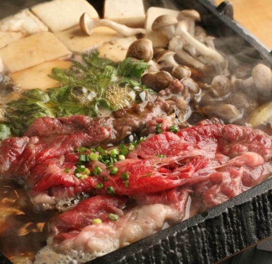 所有你可以喝120分鐘★櫻花鍋(馬肉壽喜燒)當然5000→4500日元
