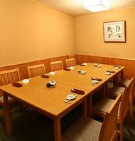 【4~10名様】落ち着いた空間。プライベートなお食事の際にピッタリです。ご宴会、接待やお顔合わせなどの改まった場にもご利用いただけます!