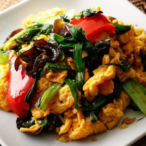 돼지 고기와 계란, 목이 버섯 볶음 / 닭고기와 캐슈넛 볶음 / 호이코로
