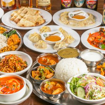 "◆ [Indian / Nepalese food] 2 hours all-you-can-drink ""The Spice Course"" 4500 yen → 3500 yen"