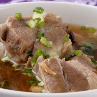 肉骨汤/鸡面(福建炒面)