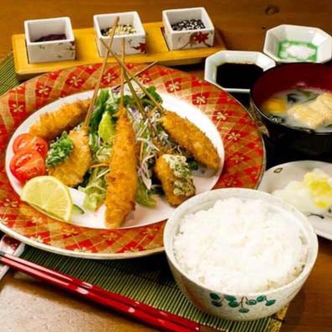 Kushi fried lunch
