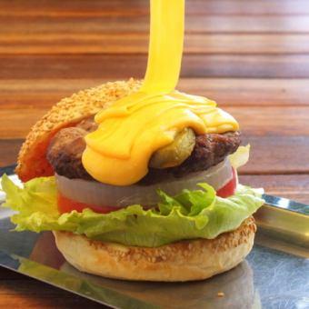 吉岡岡芝士漢堡